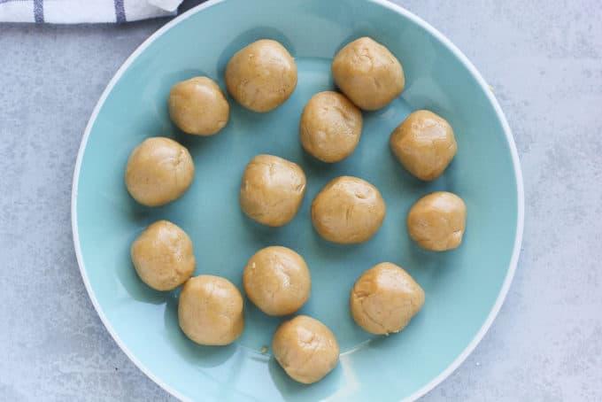 Buckeye dough on a plate
