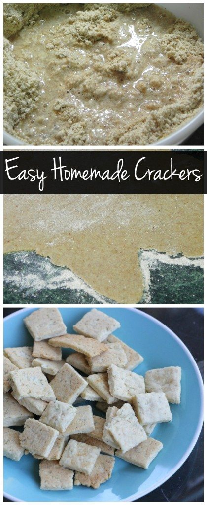 Homemade crackers are easier than you think! Skip the boxed crackers and make your own healthy, whole wheat crackers!