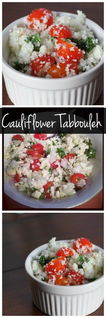 This easy cauliflower tabbouleh recipe is a vegetable packed twist on traditional tabbouleh salad. It's vegan, gluten free, and delicious!