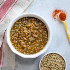 garlic lentil soup