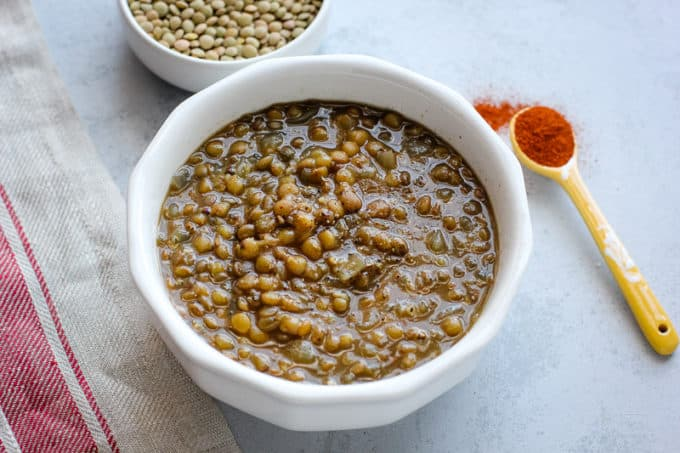 garlic lentil soup