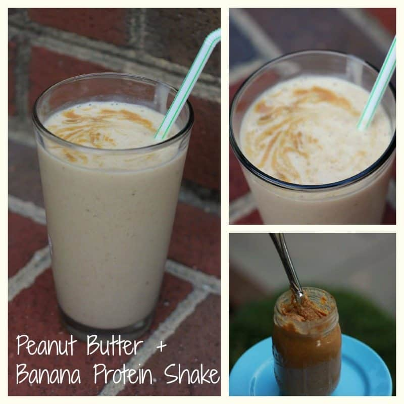 Banana Smoothie with Honey Roasted Peanut Butter