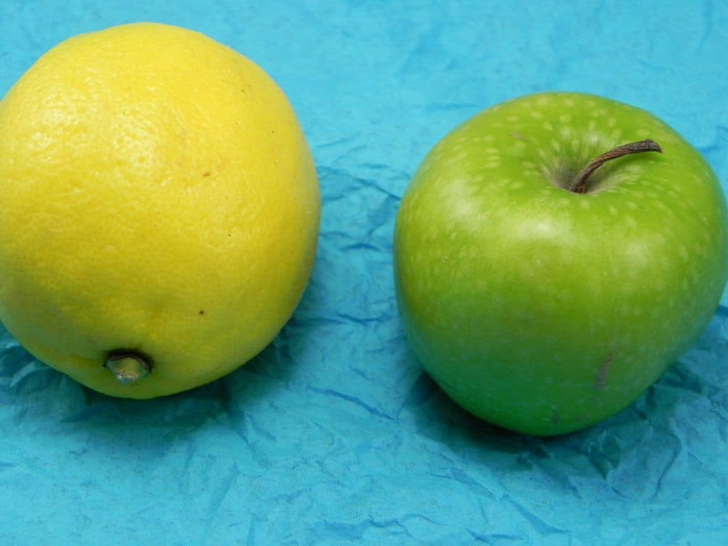 lemon and apple