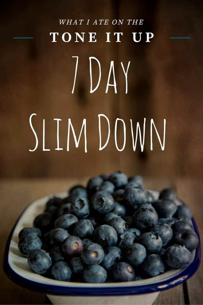 Thinking about trying Tone It Up? Here's what I ate on the 7 Day Slim Down Plan!