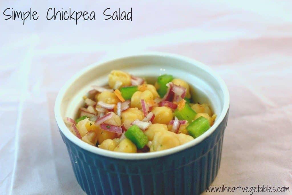 simple chickpea salad recipe