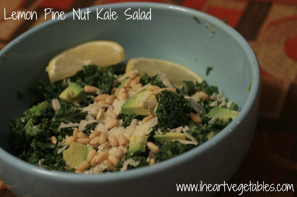 lemon pine nut salad