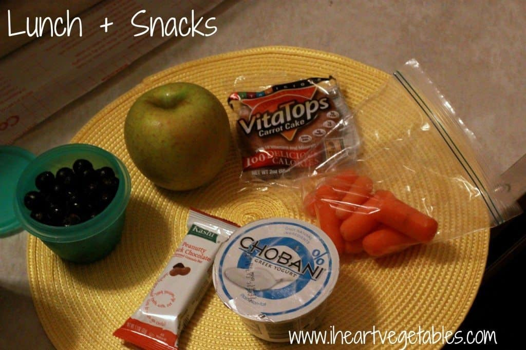 lunch and snacks