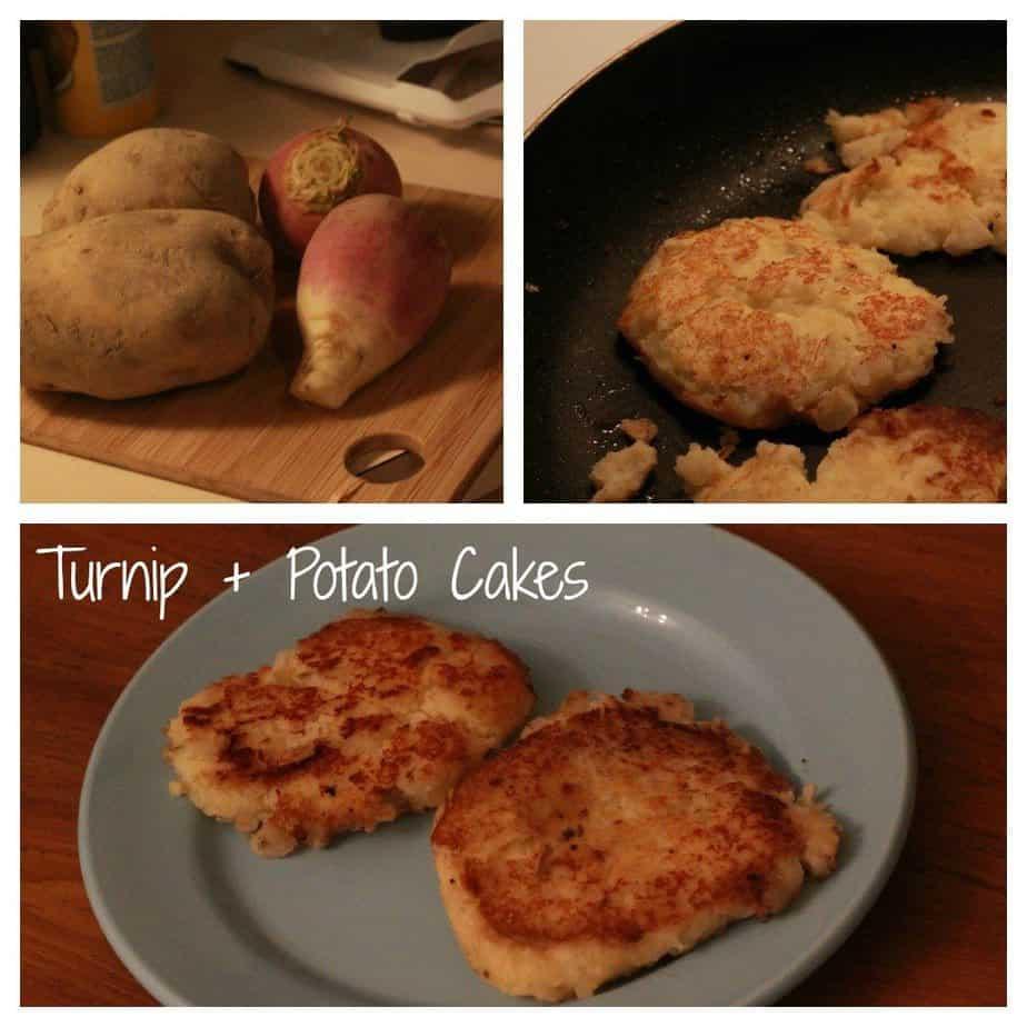 turnip and potato cakes