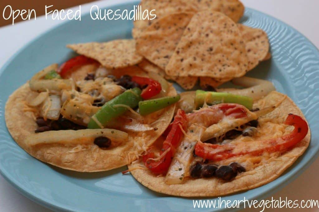 open faced quesadillas
