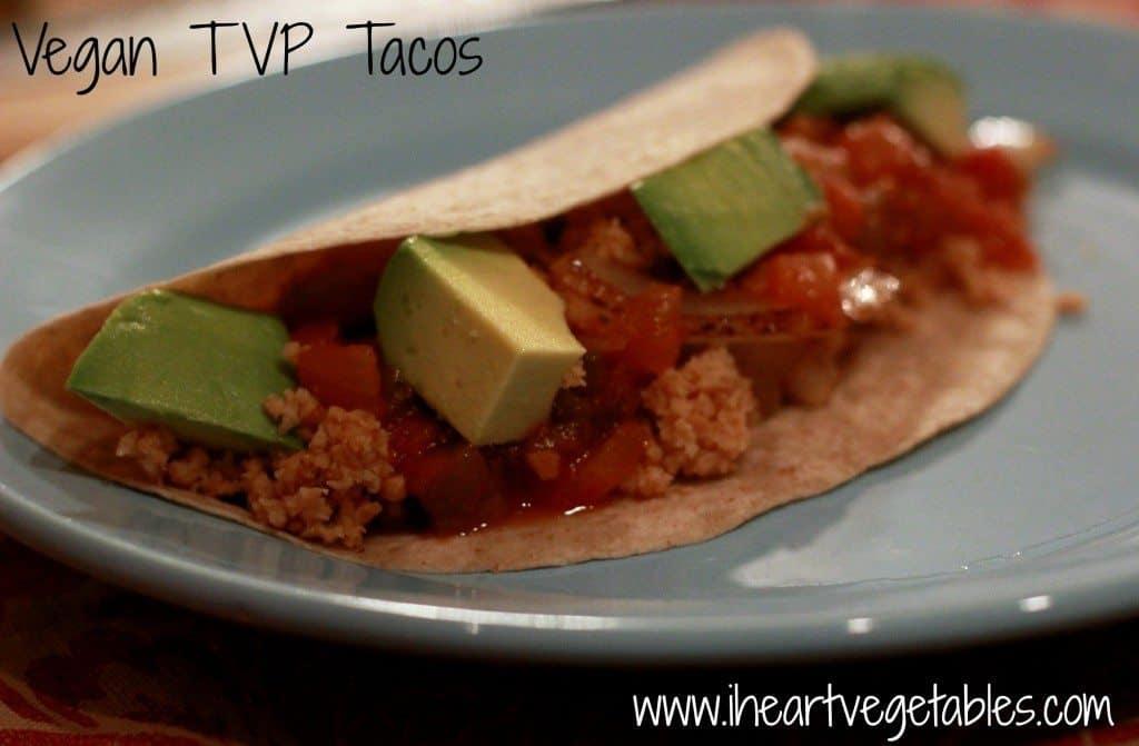 Vegan TVP Tacos