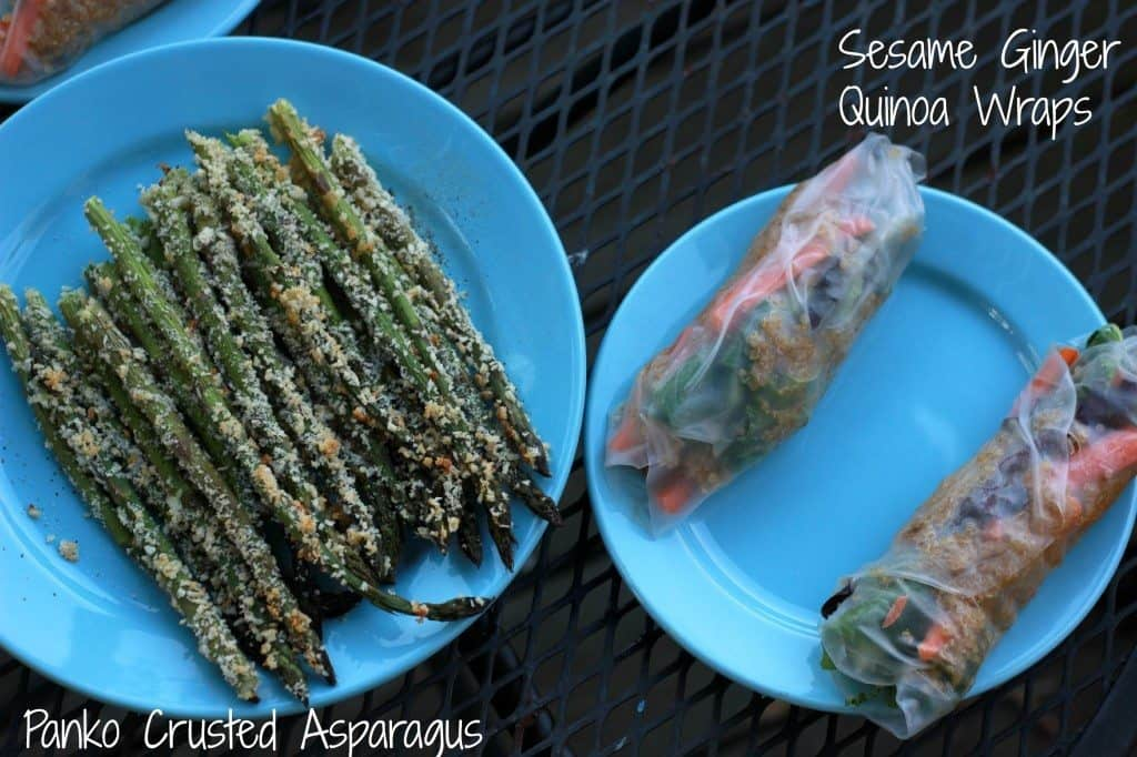 asparagus and rice wraps