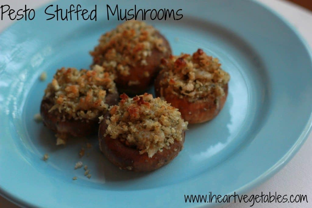 pesto stuffed mushrooms
