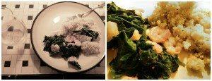Sauteed Spinach & Shrimp via Chic Stripes