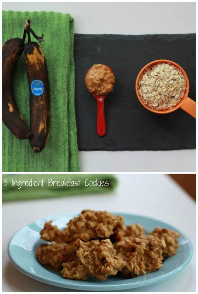 These 3 ingredient breakfast cookies are only 50 calories each! Not to mention, super simple to make!