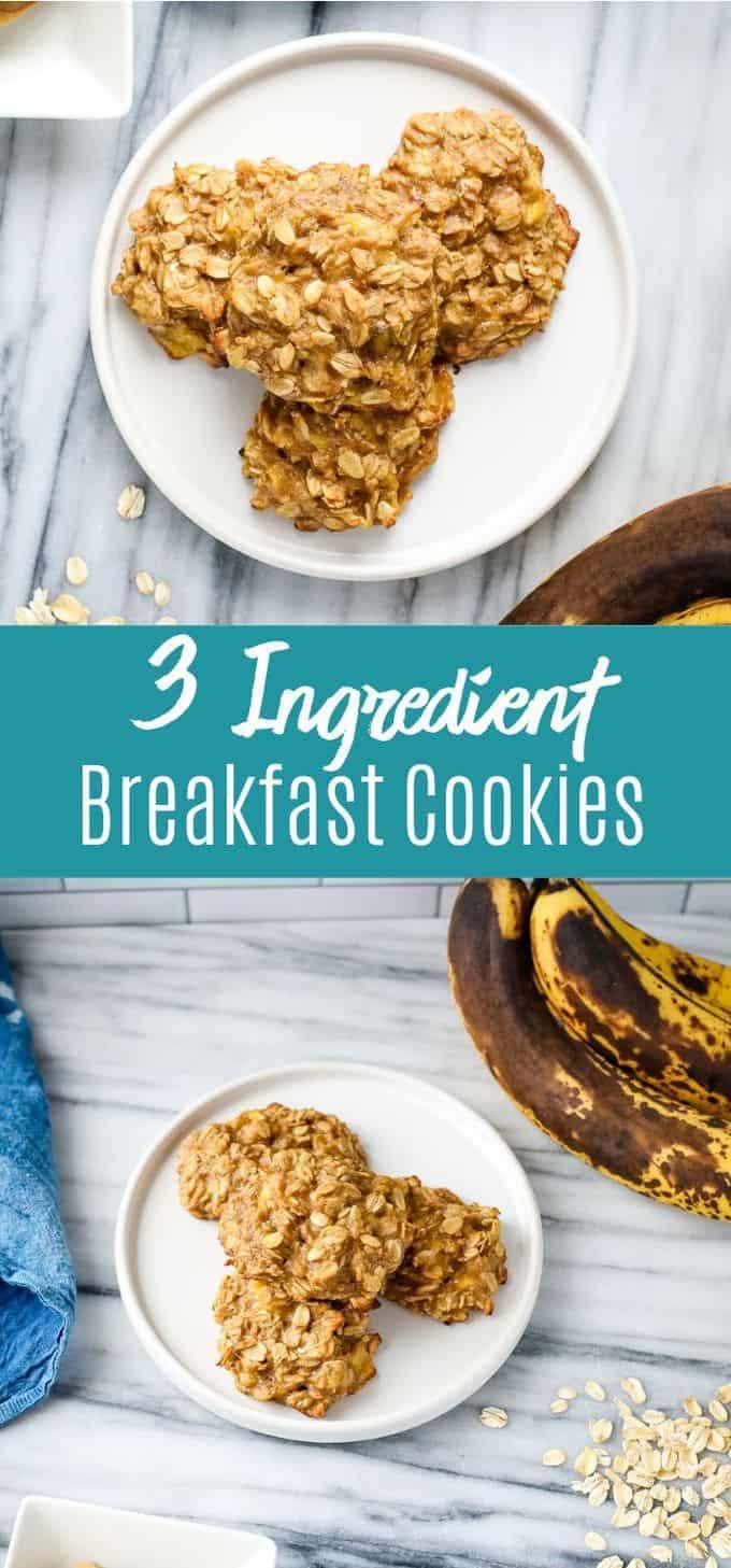 3 Ingredient Breakfast Cookies
