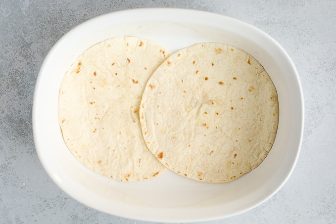 tortillas in a dish