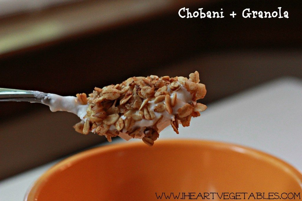 breakfast chobani and granola