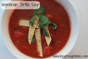 Vegetarian Tortilla Soup [Vegan, Gluten Free]