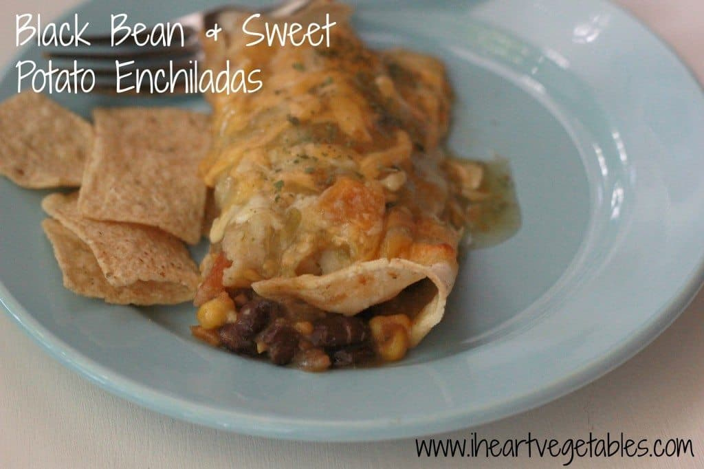 black bean and sweet potato enchiladas from I Heart Vegetables