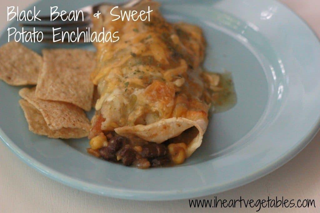 black bean and sweet potato enchiladas from I Heart Vegetables