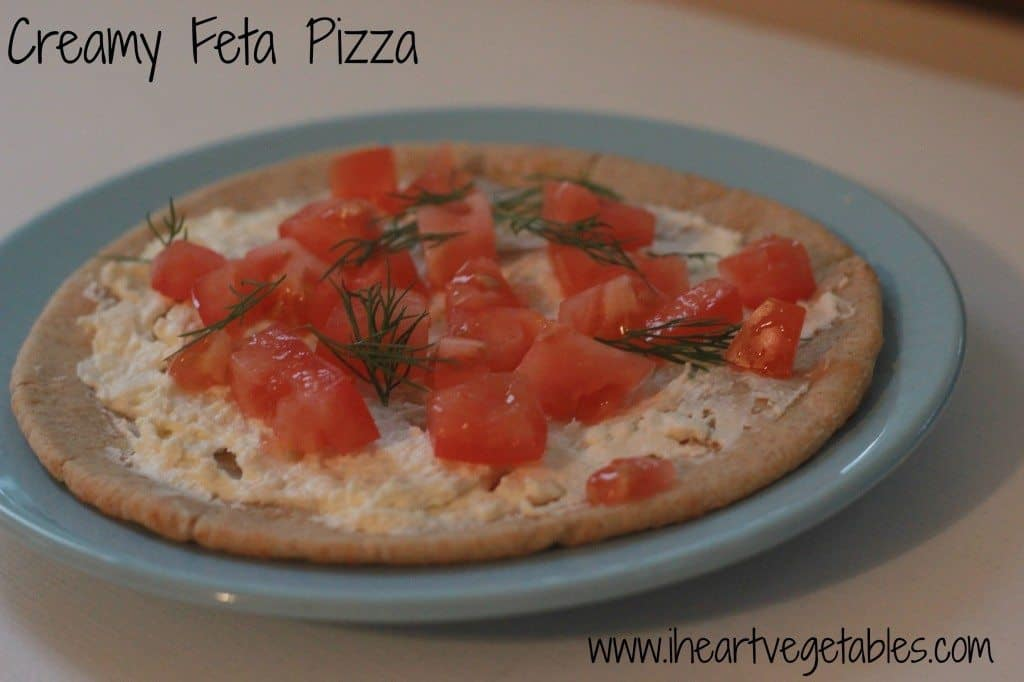 Creamy Feta Pizza