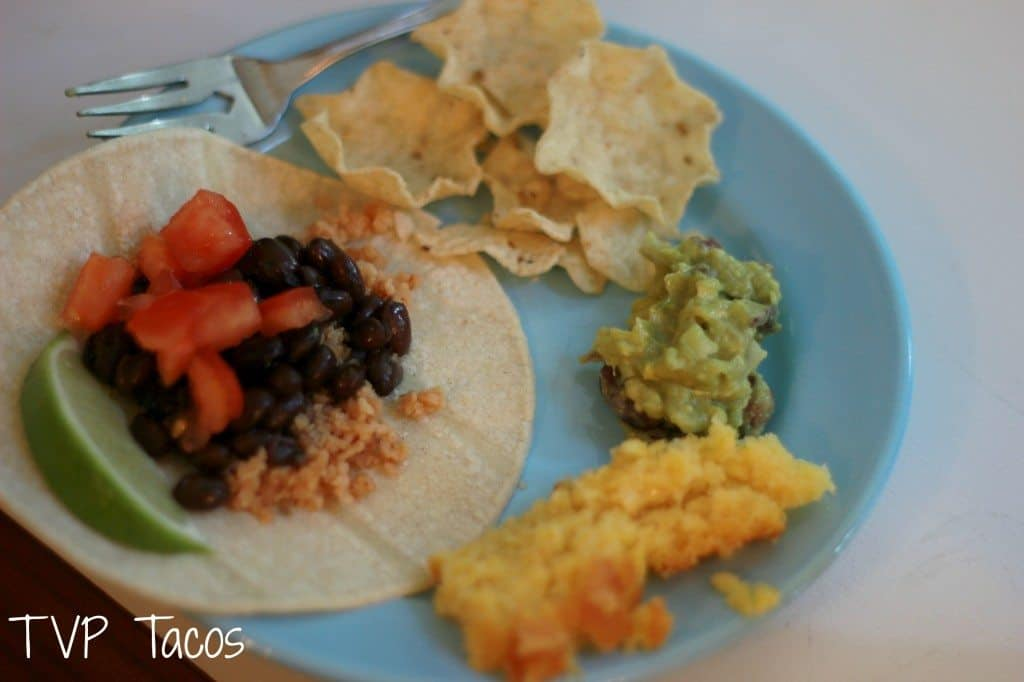 tvp tacos for cooking club