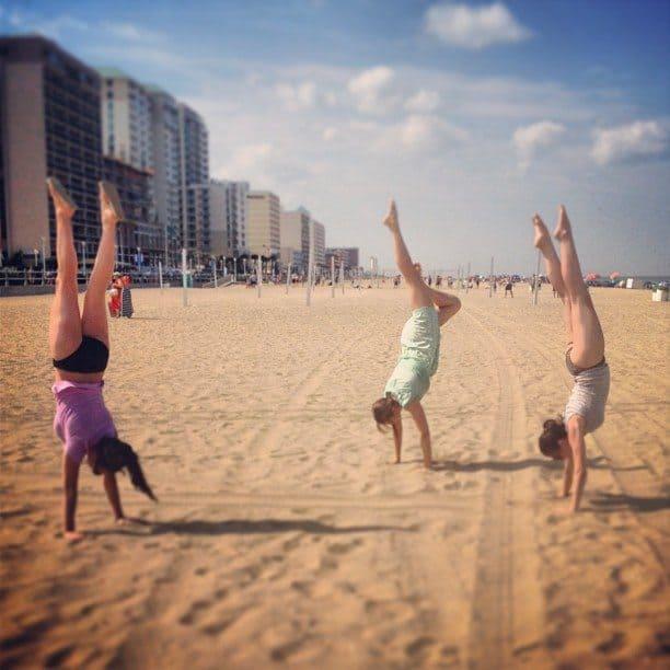 Beach handstands