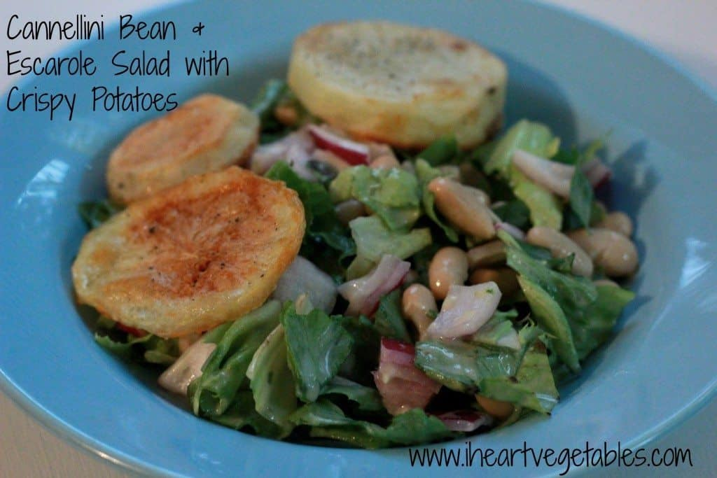 Cannellini Bean & Escarole Salad with Crispy Potatoes