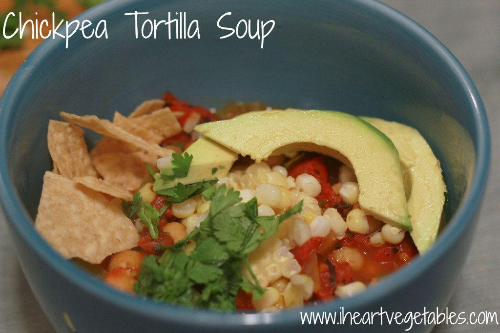 Vegan Chickpea Tortilla Soup from I Heart Vegetables