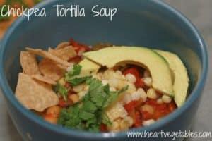 Vegan Chickpea Tortilla Soup from I Heart Vegetables