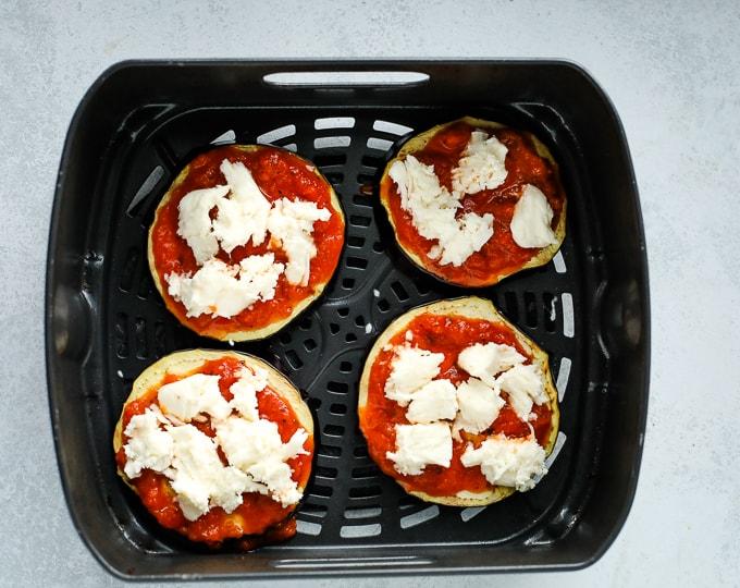 air fryer eggplant pizza