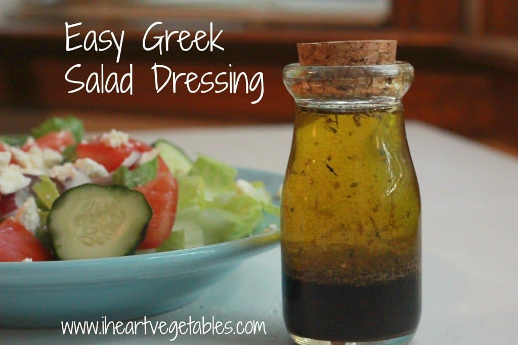 Easy Greek Salad Dressing - I Heart Vegetables