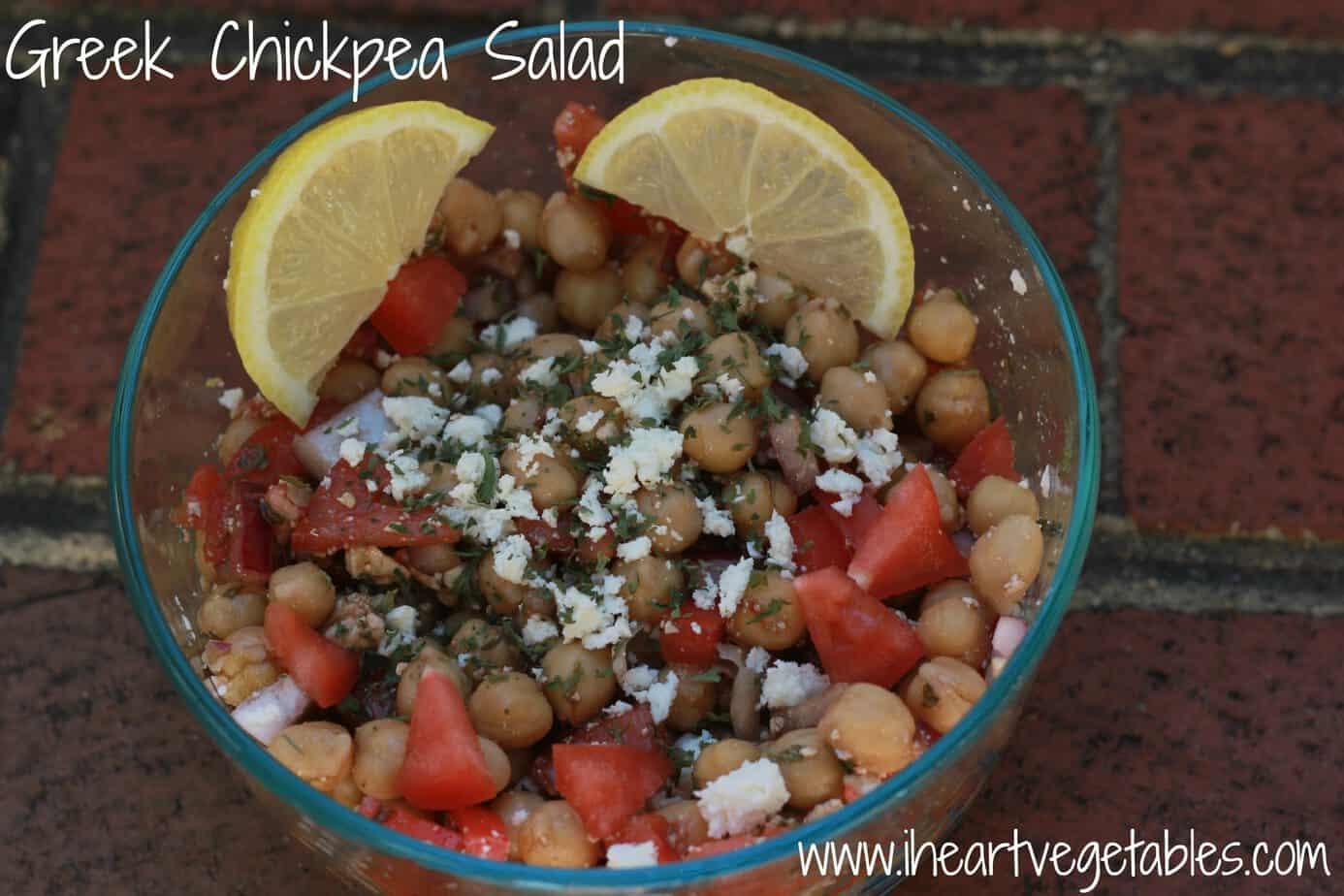Greek Chickpea Salad - I Heart Vegetables