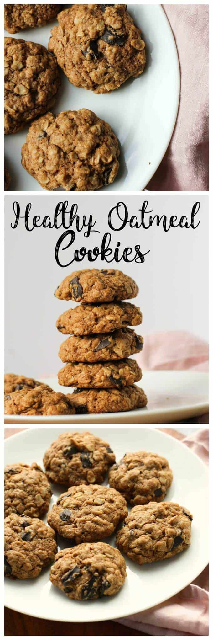 Healthier Oatmeal Cookies I Heart Vegetables
