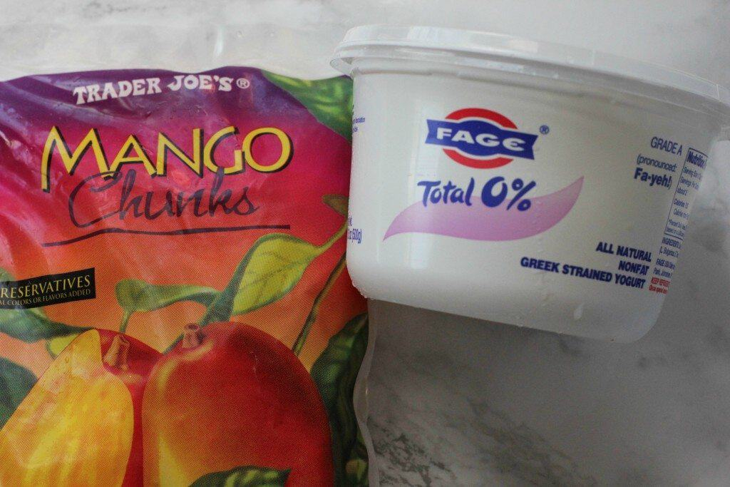 2 ingredients mango ice cream