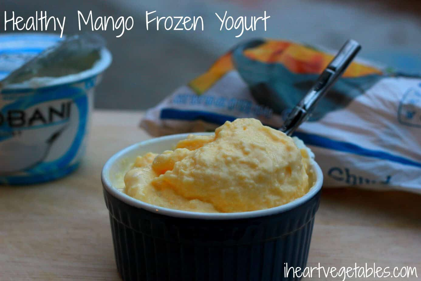homemade mango frozen yogurt 1 cup frozen mango 1 cup greek yogurt 1 ...