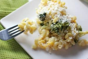 Lighter Broccoli Macaroni and Cheese