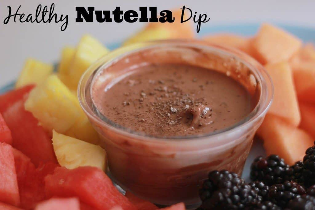 Nutella Yogurt Fruit Dip