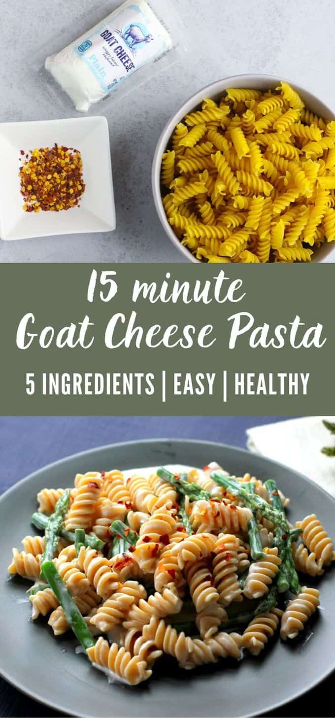 5 Ingredient Creamy Goat Cheese Pasta