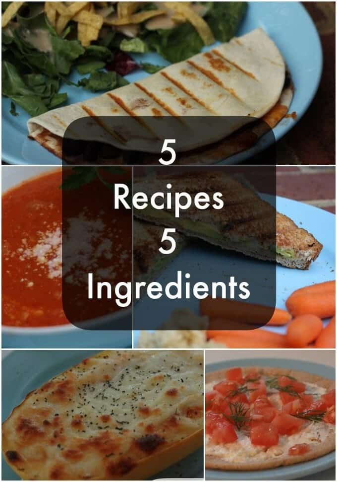 5 recipes 5 Ingredients