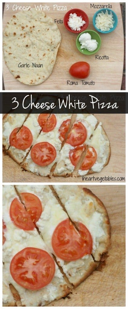 This 3 cheese white pizza is SO easy to make! All you need are a few ingredients and dinner can be on the table in minutes.