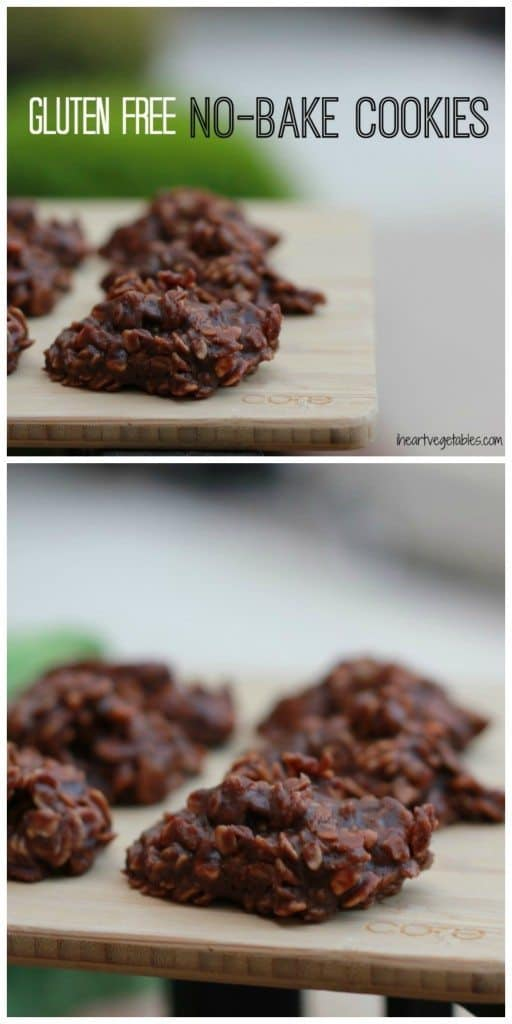 This gluten free no bake cookie recipe is so easy to make! Chocolate and peanut butter = the best of both worlds!