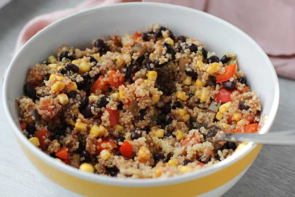 quinoa bake mixed