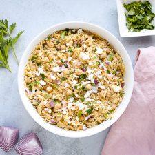 feta orzo pasta salad