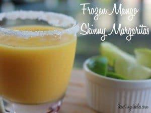 Frozen Mango Skinny Margaritas
