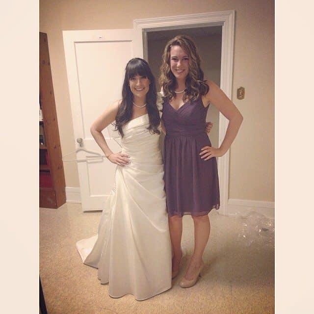 me and alexa at the wedding