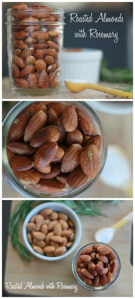 Spice up your almonds with rosemary! These roasted almonds are addictive, which is fine since they're loaded with healthy fat and protein! These are vegan & gluten free!
