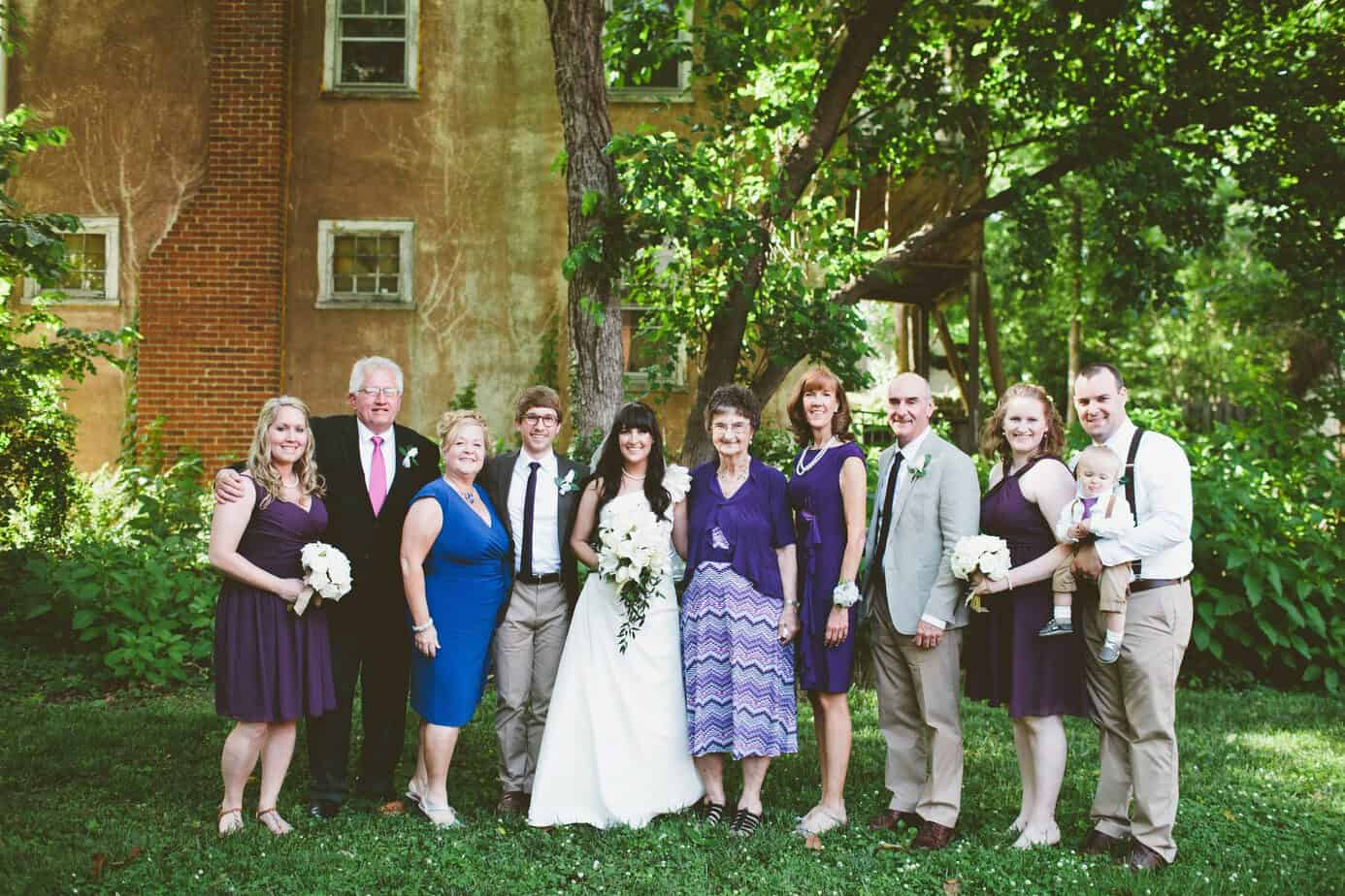 family wedding picture