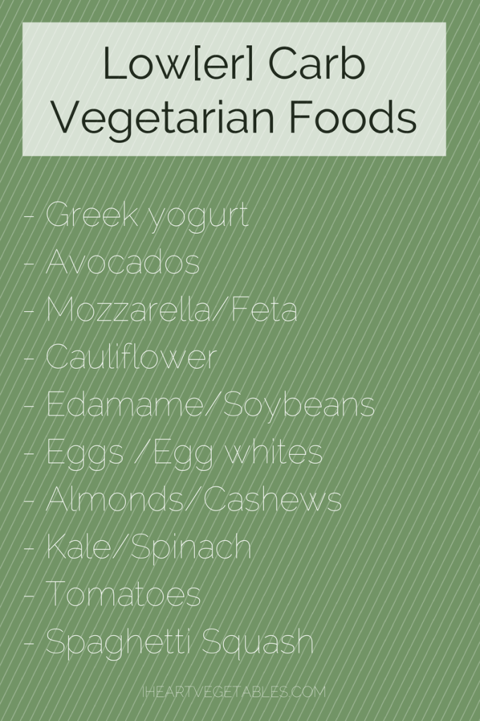 low carb vegetarian foods
