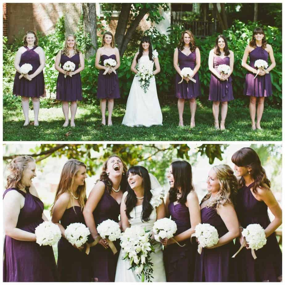 outdoor picture bridesmaids